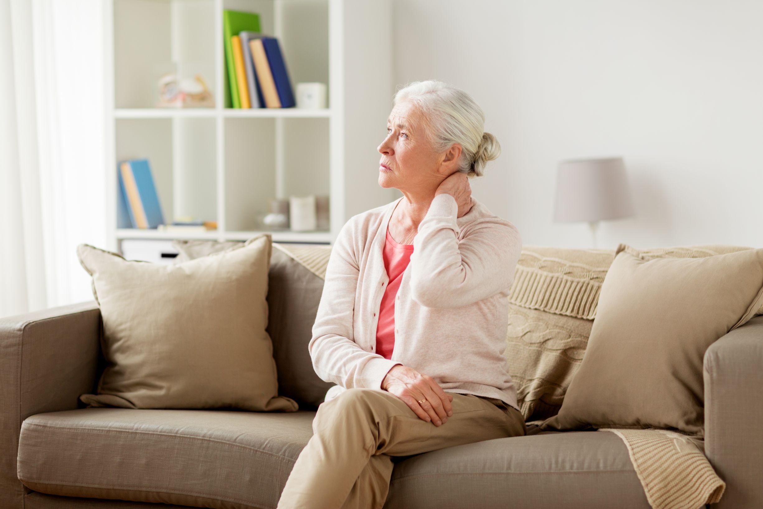 Senior woman with  fibromyalgia